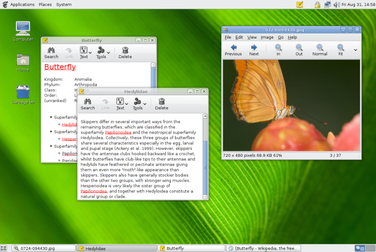 GNOME Desktop session