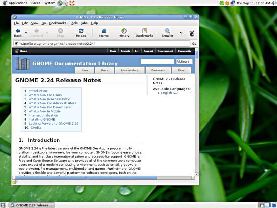 El GNOME 2.24