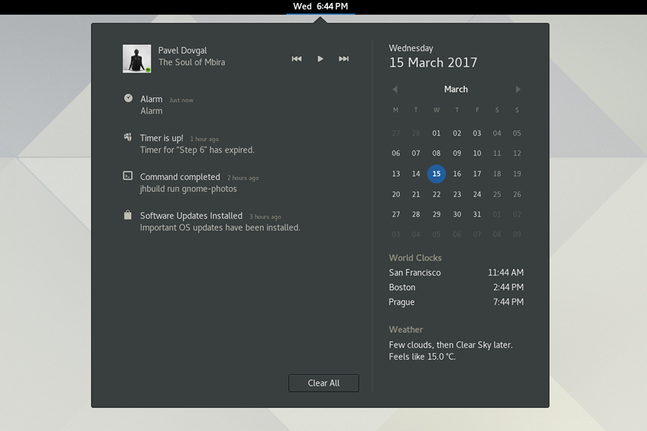 linux/gnome's changelog at AllMyChanges com, release notes