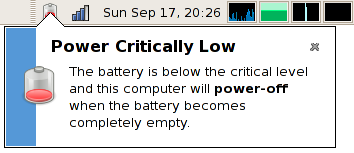 Image result for critically low battery message