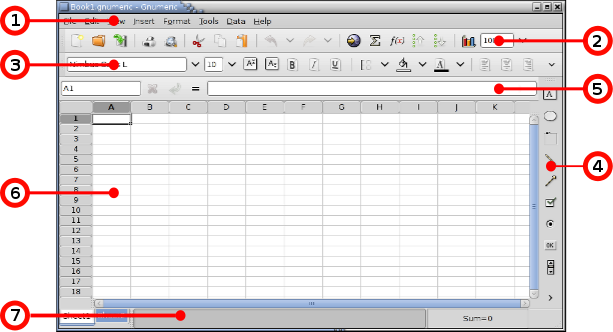 The Gnumeric Manual version 112 – Components Of A Spreadsheet