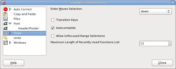 General Preferences