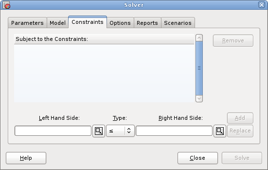 solver constraint satisfaction and dialogue box Otherwise the solver runs, and solversolve returns an integer value corresponding to the message that appears in the solver results dialog box: 0 solver found a solution all constraints and optimality conditions are satisfied.